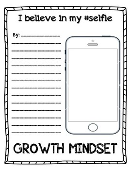 I Believe in my Selfie--Growth Mindset Writing Activities