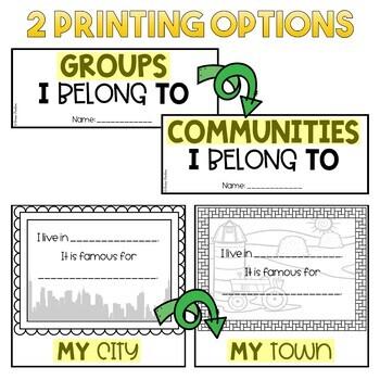 I Belong in Groups Flip Book   Alberta Curriculum