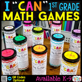 1st Grade Math Games 1st Grade Math Centers 1st Grade I CAN Math Games BUNDLE