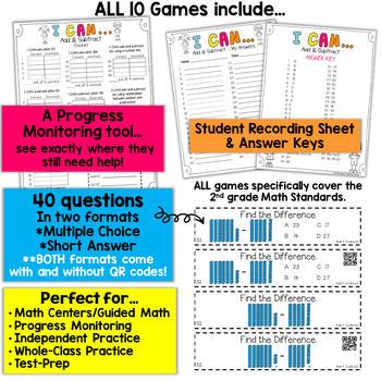 2nd Grade Math Centers | 2nd Grade Math Games BUNDLE