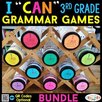 3rd Grade Grammar Games | 3rd Grade Grammar Practice BUNDLE
