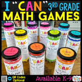 3rd Grade Math Games 3rd Grade Math Centers 3rd Grade I CAN Math Games BUNDLE