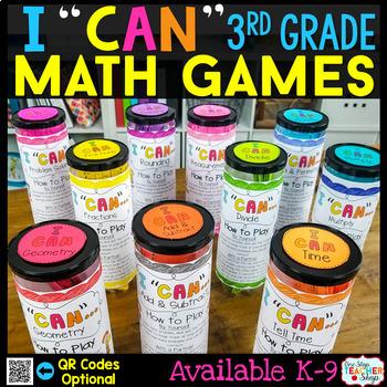 3rd Grade Math Centers   3rd Grade Math Games BUNDLE