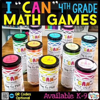 4th Grade Math Centers - 4th Grade Math Games BUNDLE for A