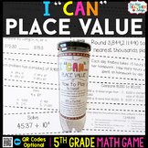 5th Grade Place Value Game - 5th Grade Math Game for Math Centers