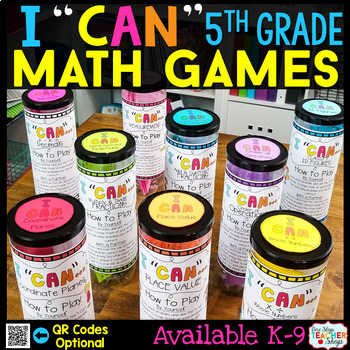 5th Grade Math Games 5th Grade Math Centers BUNDLE