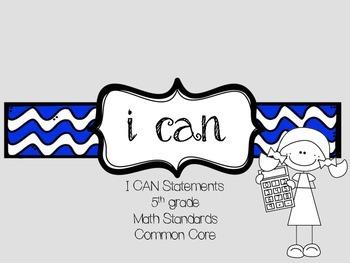 I CAN: 5th grade Math (Common Core)
