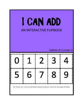 I CAN ADD- Interactive Math Flipbooks.