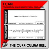 I CAN | AUSTRALIAN CURRICULUM | FOUNDATION HEALTH