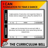 I CAN | AUSTRALIAN CURRICULUM | FOUNDATION TO YEAR 2 DANCE