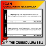 I CAN | AUSTRALIAN CURRICULUM | FOUNDATION TO YEAR 2 DRAMA