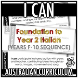 I CAN | AUSTRALIAN CURRICULUM | FOUNDATION TO YEAR 2 ITALI