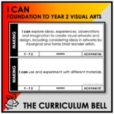I CAN   AUSTRALIAN CURRICULUM   FOUNDATION TO YEAR 2 VISUAL ARTS