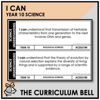 I CAN | AUSTRALIAN CURRICULUM | YEAR 10 SCIENCE
