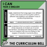 I CAN | AUSTRALIAN CURRICULUM | YEAR 3 ENGLISH