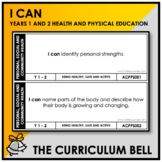 I CAN | AUSTRALIAN CURRICULUM | YEARS 1 AND 2 HEALTH