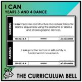 I CAN | AUSTRALIAN CURRICULUM | YEARS 3 AND 4 DANCE