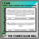 I CAN | AUSTRALIAN CURRICULUM | YEARS 3 AND 4 DESIGN AND T