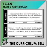I CAN | AUSTRALIAN CURRICULUM | YEARS 3 AND 4 DRAMA