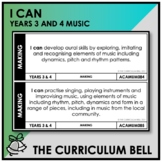 I CAN | AUSTRALIAN CURRICULUM | YEARS 3 AND 4 MUSIC