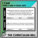 I CAN | AUSTRALIAN CURRICULUM | YEARS 3 AND 4 VISUAL ARTS