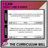 I CAN | AUSTRALIAN CURRICULUM | YEARS 7 AND 8 DANCE