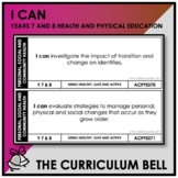 I CAN | AUSTRALIAN CURRICULUM | YEARS 7 AND 8 HEALTH