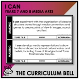 I CAN | AUSTRALIAN CURRICULUM | YEARS 7 AND 8 MEDIA ARTS