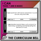 I CAN | AUSTRALIAN CURRICULUM | YEARS 7 AND 8 MUSIC