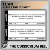 I CAN | AUSTRALIAN CURRICULUM | YEARS 9 AND 10 DANCE
