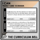 I CAN | AUSTRALIAN CURRICULUM | YEARS 9 AND 10 DRAMA