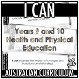 I CAN | AUSTRALIAN CURRICULUM | YEARS 9 AND 10 HEALTH