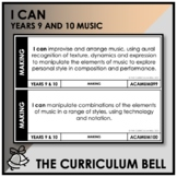 I CAN | AUSTRALIAN CURRICULUM | YEARS 9 AND 10 MUSIC