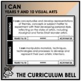 I CAN | AUSTRALIAN CURRICULUM | YEARS 9 AND 10 VISUAL ARTS