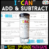 3rd Grade Addition & Subtraction within 1,000 Game