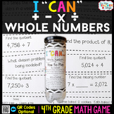 4th Grade Addition, Subtraction, Multiplication, & Division Game