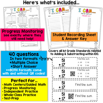 1st Grade Addition and Subtraction Game | 1st Grade Math Centers