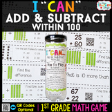 Addition and Subtraction within 100 First Grade Math Game