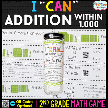 2nd Grade Addition within 1,000 Game | Addition with Regrouping