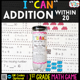 1st Grade Addition within 20 Game