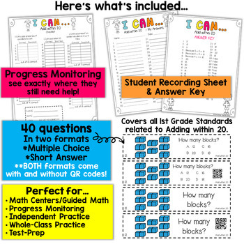 1st Grade Addition within 20 Game by One Stop Teacher Shop | TpT