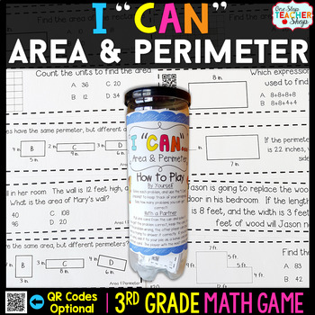 3rd Grade Area and Perimeter Game | 3rd Grade Math Centers