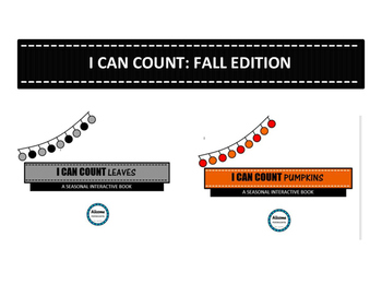 I Can Count Interactive Book- FALL EDITION
