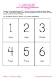 I CAN COUNT SERIES:  Pocket Chart Numbers and Number Names