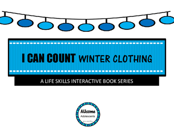 I Can Count Interactive Books- WINTER CLOTHING