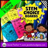 STEM Choice Boards for Pre-K, Kindergarten, 1st Grade, and SPED (VOLUME 1)