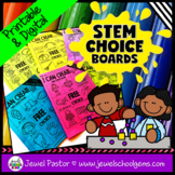 STEM Choice Boards for Pre-K, Kindergarten, 1st Grade, and
