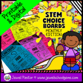 STEM Choice Boards Pre-K, Kindergarten, 1st Grade, and SPED (MONTHLY EDITION)
