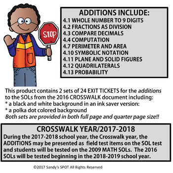 I CAN CROSSWALK ADDITIONS STATEMENTS VIRGINIA SOL MATH GRADE 4