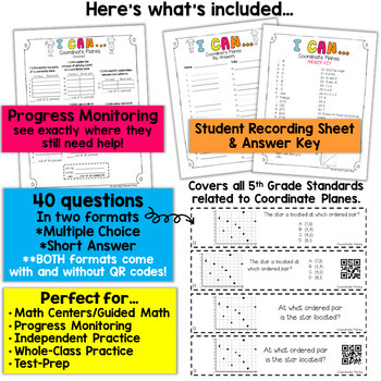 5th Grade Graphing Coordinate Planes Game | 5th Grade Math Centers